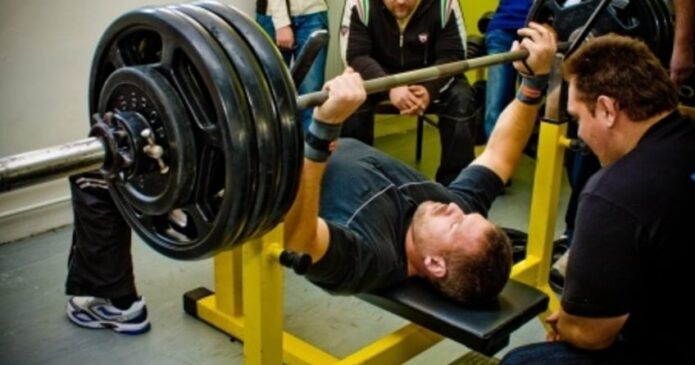 A bench press can cause a rotator cuff tear