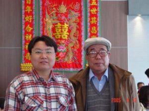 Albert Zhang and Professor Gao Li Shan