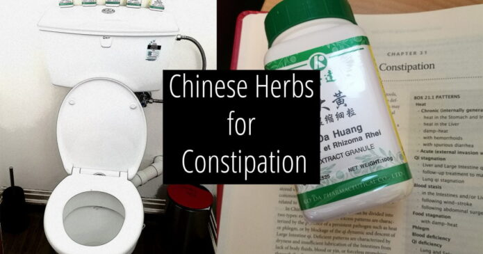 Constipation and Chinese herbs