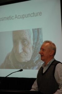 Heiko Lade Lecturing on Cosmetic Acupuncture at the New Zealand Register of Acupuncturists annual conference