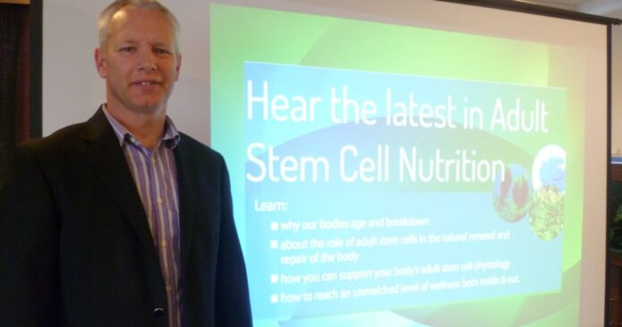 John=Kennedy-lecturing-on -stem-cell-nutrition