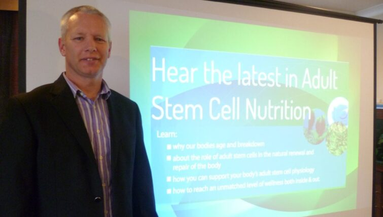 John Kennedy lecturing on Adult Stem Cell Nutrition