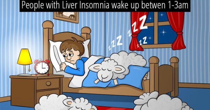 The Liver can cause insomnia