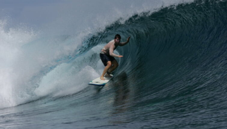 Matt Callison has reached Tavarua, Fiji, and is now on a wave south to Auckland