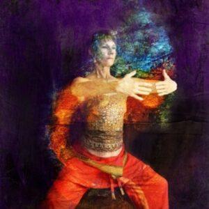 Woman doing Qi Gong