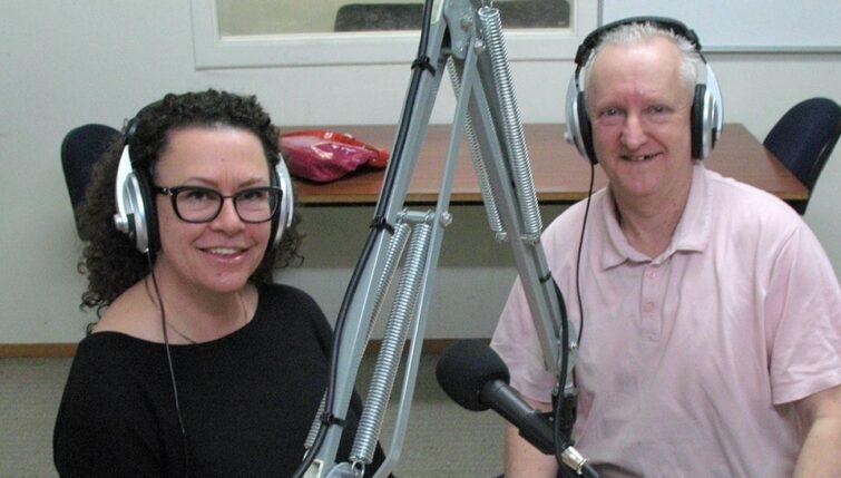 Griselda Mason and Heiko Lade at Radio Kidnappers